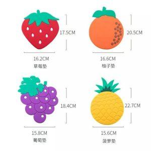 پد زیر قابلمه ای سیلیکونی میوه ای