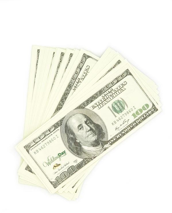 دلار تقلبی بسته صدتایی