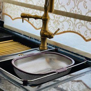 سبد سینک استیل کشویی