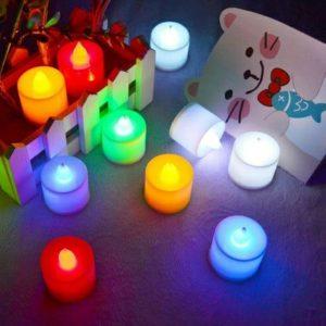 شمع LED هفت رنگ بسته 4 تایی